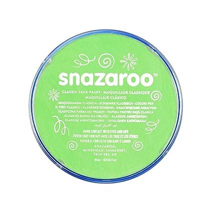 Snazaroo - Pintura facial y corporal, 18 ml, color verde lima