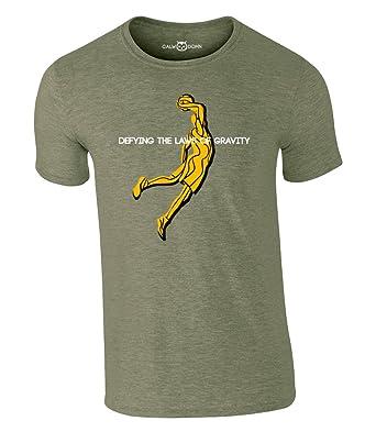 Basketball T Shirt Defying The Laws Of Gravity Herren Dunker Jumpman