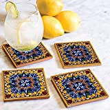 Golondrina Hand Painted Tile Coasters (Set of 4)