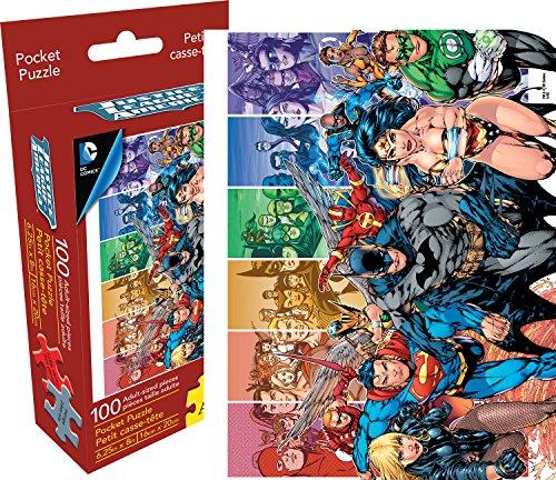 Justice Puzzle (Aquarius DC Comics Justice League Adult 100 Piece Pocket Jigsaw Puzzle)