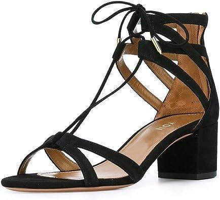 YDN Classic Strappy Low Block Heel