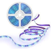 MINGER LED Strip Lights, 16.4ft RGB LED Light Strip 5050 LED Tape Lights, Color Changing LED Strip Lights with Remote…
