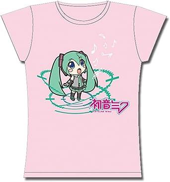 Vocaloid Hatsune Miku Junior Girl Pink T-Shirt