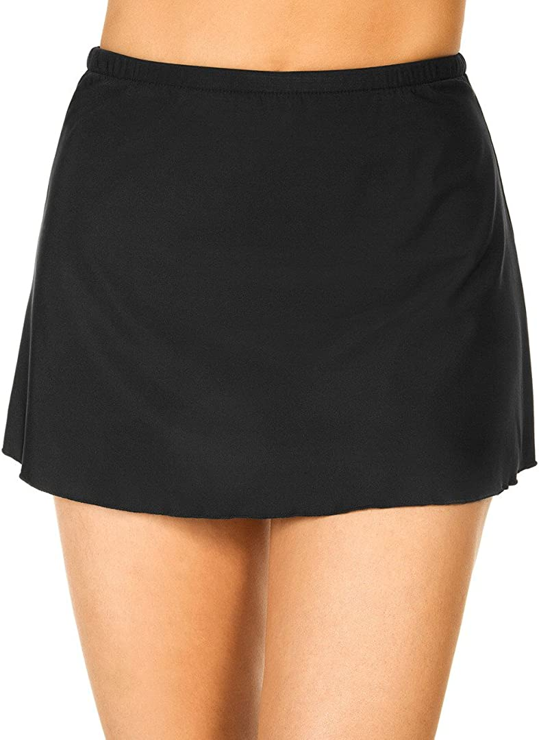 Miraclesuit Women's Miracle Solids Skirted High Waist Bikini Bottom