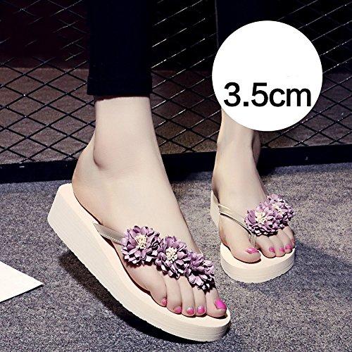 Femminili Pantofole Donne rosa Le 5cm 3 azzurro blu Da Pink Per marrone Haizhen Antisdrucciolo Scarpe Donna Scuro Estive wxxS6Ir