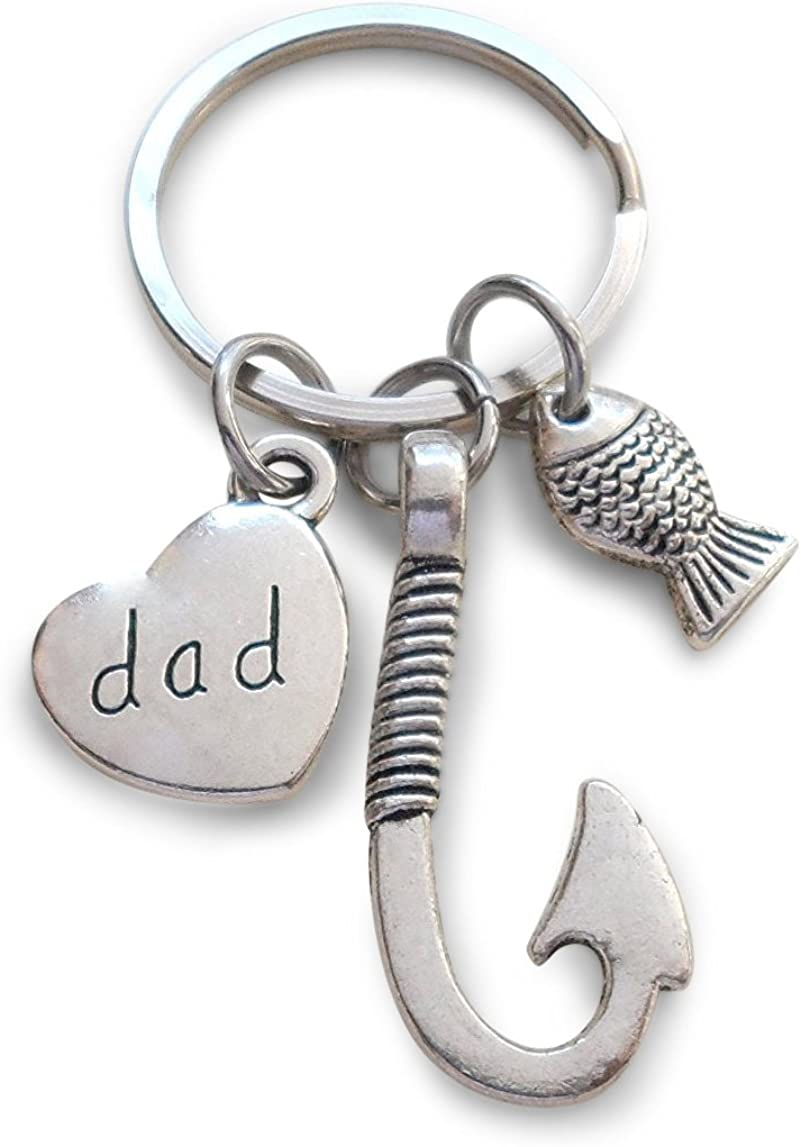 Personalised gift Fathers Day Gift Dad Keychain Big Fish Little Fish Dad Gift