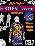 img - for Football (Soccer) Coloring Book: Unofficial Night Edition: 40 Beautifully Designed Pictures of Best Players, Lionel Messi, Neymar, Pogba, Griezmann, ... leaves. (Sports Coloring Books) (Volume 1) book / textbook / text book