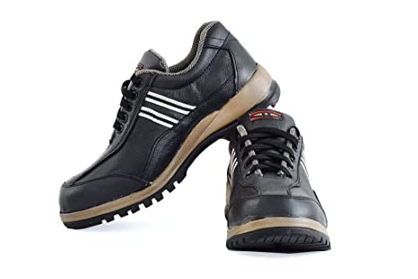 TEK-TRON Men's Black leather Safety