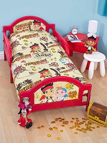 Character World Disney Jake U0026 The Neverland Pirates U0027Treasureu0027 Toddler Bed  Duvet Cover U0026