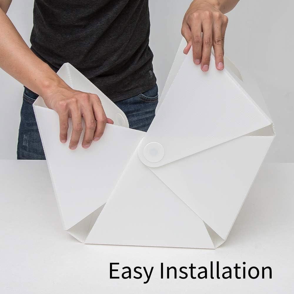 Foldable Photography Light Box Shooting Tent 40cm/×26cm/×45cm HWZDQLK Mini Portable Photo Studio Box with 2 Magnetic Moveable LED Strips