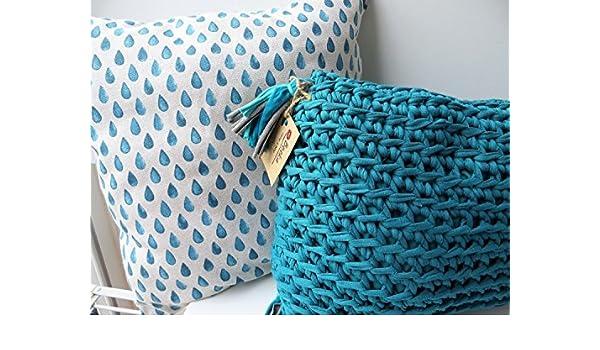 Conjunto de dos cojines BeekaHome (tela y trapillo): Amazon.es: Handmade