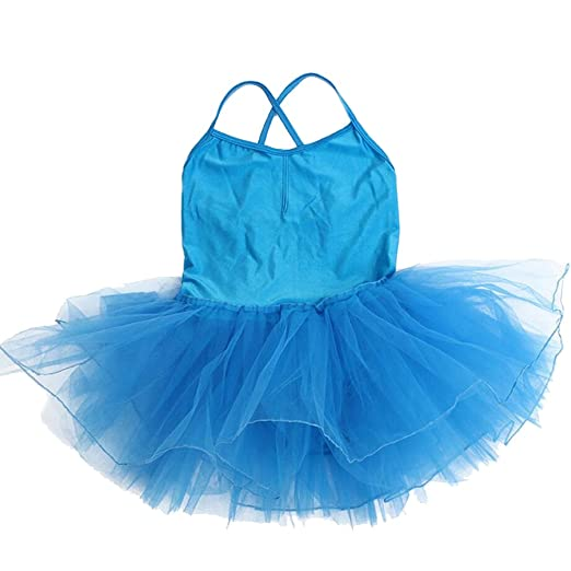 7d00d24ee Amazon.com  Kids Girls Dance Camisole Leotard Dress Skirt Tutu for ...