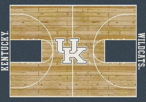 """Court Runner Area Rug (Kentucky Wildcats NCAA Area Rug - Home Court (5'4"""" x 7'8""""))"""