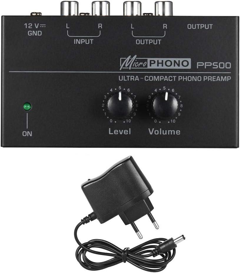 Pp500 Ultra Kompakt Phono Vorverstärker Audio Vorverstärker Phono Vorverstärker Vor Verstärker Signal Boost Für Record Spieler Plattenspieler Line Level Aux Rca Boden Schwarz Baumarkt