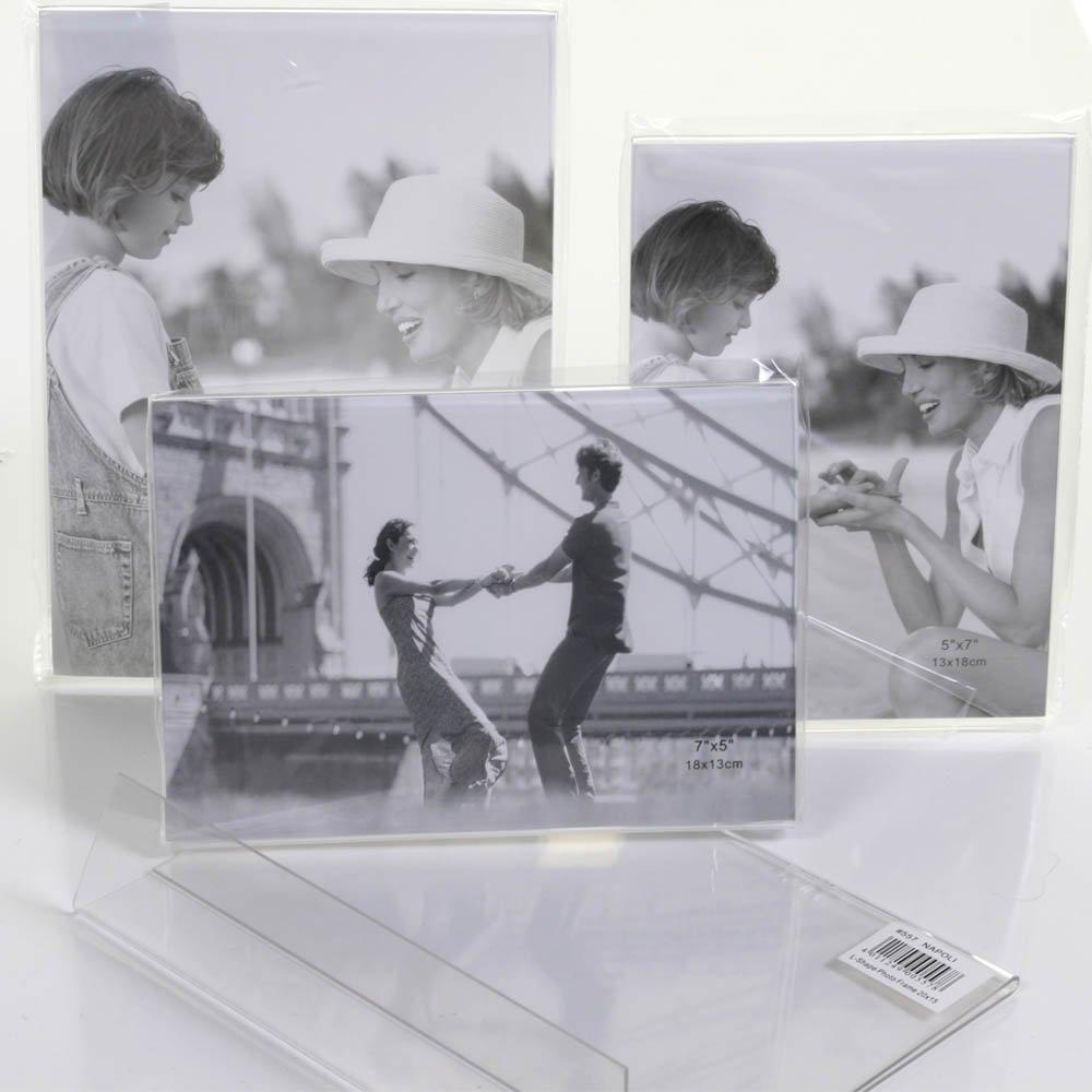 Acrylrahmen 13x18 Querformat zum Stellen Bilderrahmen: Amazon.de ...
