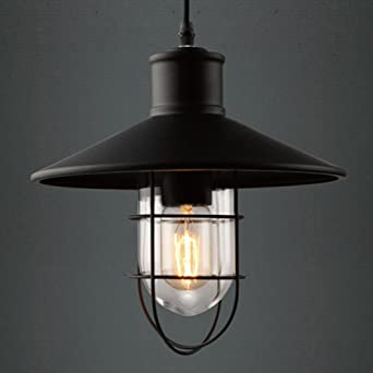 vintage looking lighting. pendant lights baycheer hl371419 industrial vintage style glass house cage hanging lamp ceiling lighting use looking