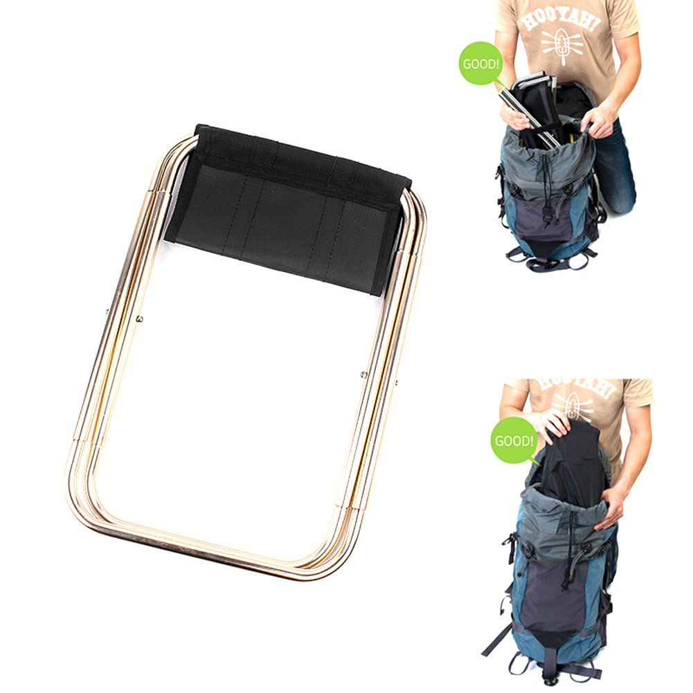 Mini Portable Folding Stool, Aluminum Fishing Chair Small Stool Seat Heavy Duty Foldable Lightweight for Backpacking Hiking Camping Picnic Travel by Yunhigh (Image #7)
