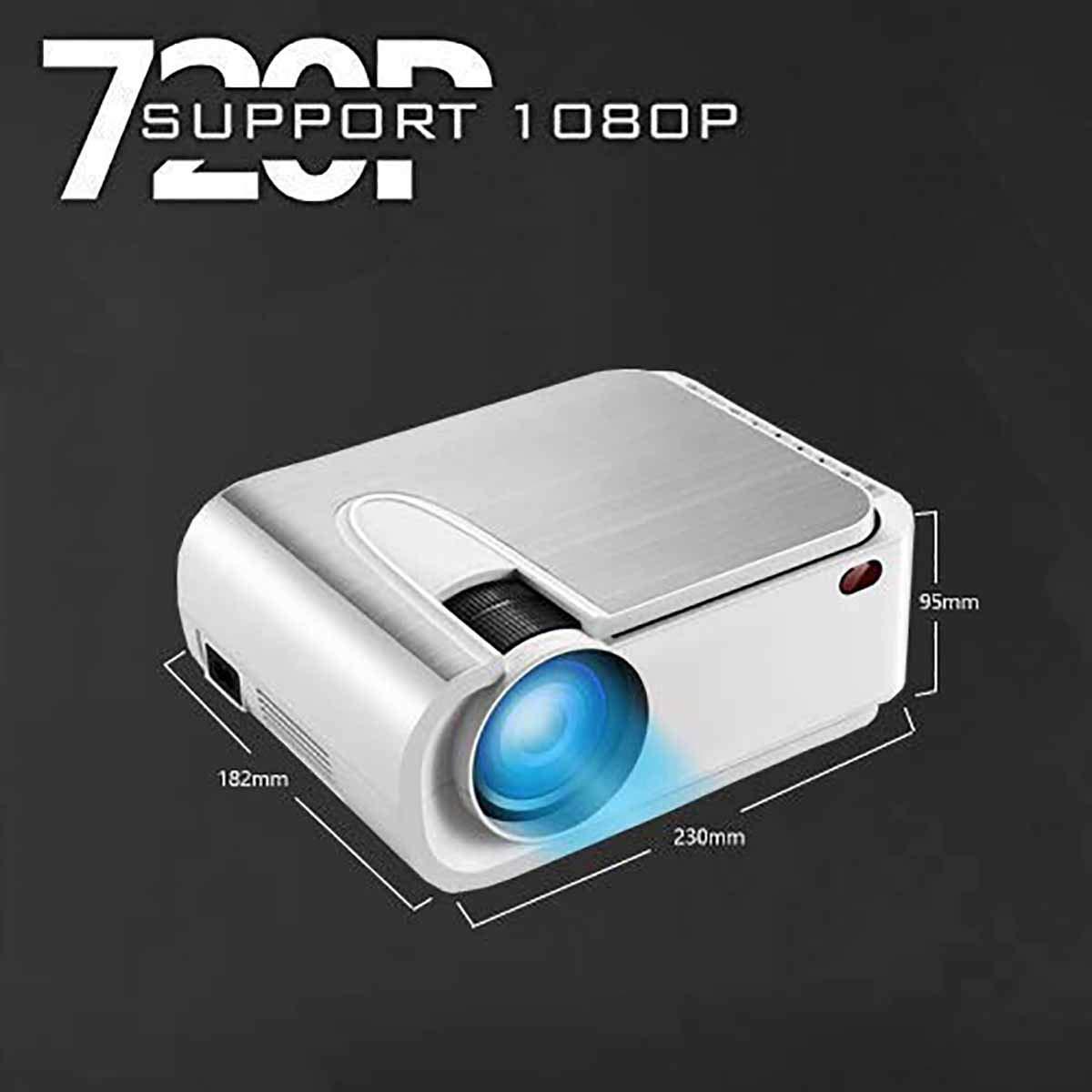 Proyector Proyector de Video HD 6200 Lux con Pantalla de 210 ...