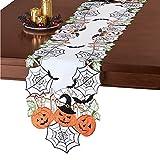 Collections Etc Halloween Party Pumpkins Bats Table Topper Home Décor, Runner