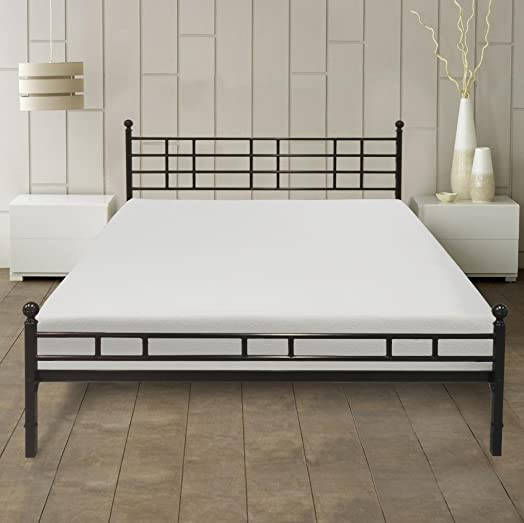 Best Price Mattress 8 Memory Foam Mattress Easy Set-Up Steel Platform Bed Steel Bed Frame Set