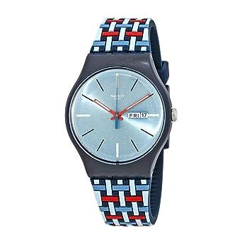 Swatch Reloj Analógico para Hombre de Cuarzo con Correa en Silicona SUON710: Amazon.es: Relojes