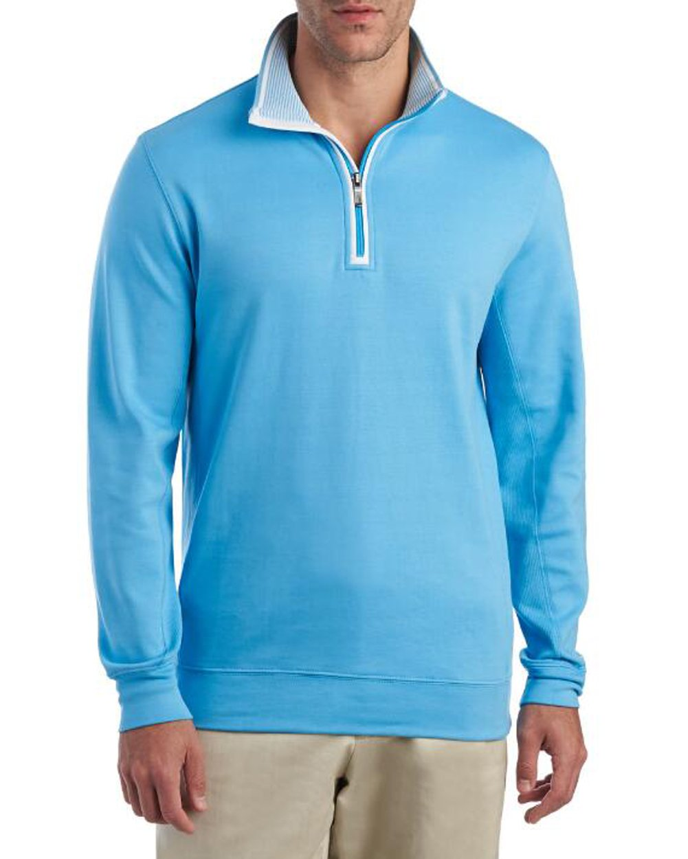 Bobby Jones Men's Leaderboard 1/4 Zip Pullover (2X-Large, Turquoise)