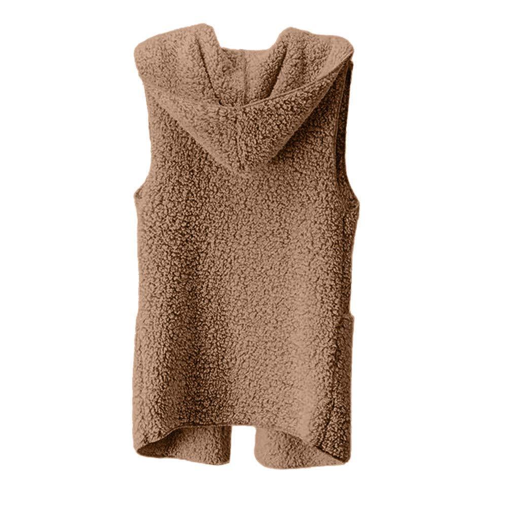 Amzeca Womens Vest Winter Warm Sweaters Hoodie Outwear Jacket Womens Shops