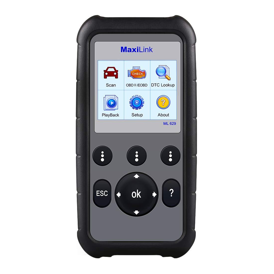 Amazon.com: Autel ML629 Maxi Link Code Reader Auto OBD2 Scanner Automotive Scan  Tool Can ABS SRS Engine Transmission: Automotive