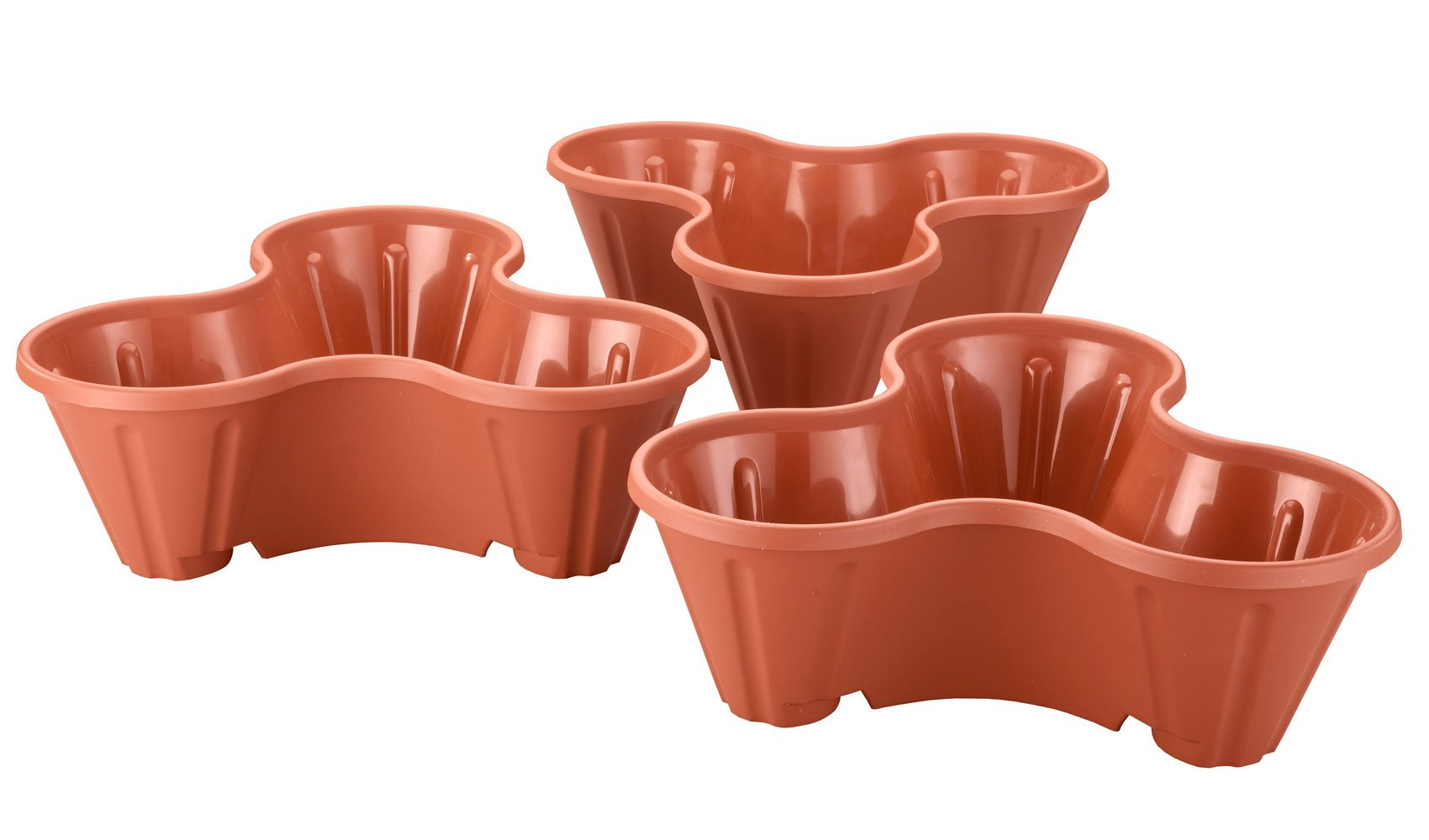 Miles Kimball Stackable Planters, Set of 3 by Miles Kimball