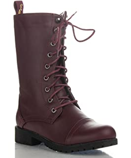 Amazon.com | Lug 11 Womens Military Lace up Combat Boot | Mid-Calf