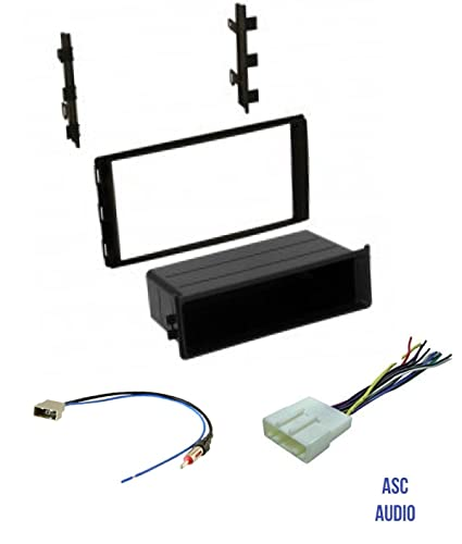 Premium ASC Car Stereo Dash Install Kit, Wire Harness, and Antenna Adapter  to Install Aftermarket Radio for select Nissan Vehicles - Compatible