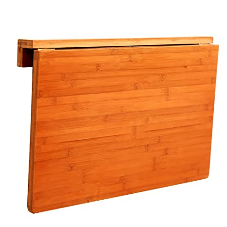 Amazon.com: MS Solid Wood Wall Folding Table Laundry Kitchen ...
