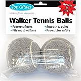 Top Glides Precut Walker Tennis Ball Glides (Gray)