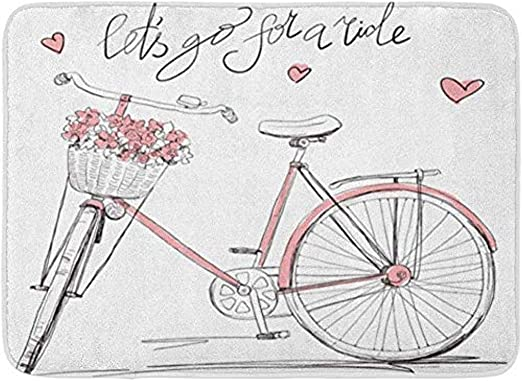 JHDF Cesta de Bicicleta Retro Llena de Flores Girl Bike Love ...