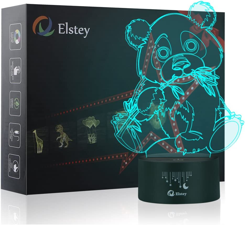 E26 E27 Sleeping Panda Logo Home Hotel Bar Lamp LED Laser Projector Shadow light