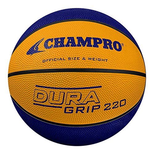 CHAMPRO Rubber Official Size Basketball, Purple/Gold ()