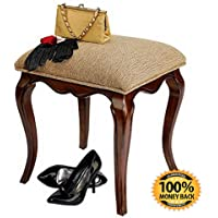 ArtMuseKit Lady Guinevere Makeup Chair Vanity Stool Bedroom Bench