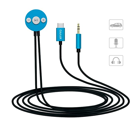 Amazon Com Usb C To 3 5mm Aux Cable With Mic Button Control