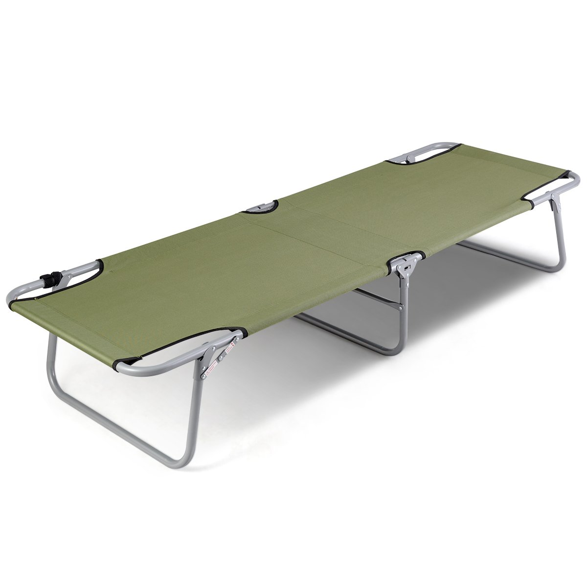 Goplus Foldable Camping Bed Outdoor Portable Military Cot for Travel Mountaineering Base Camp Hiking