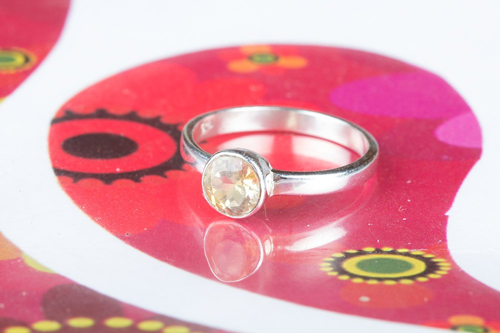 Citrine Ring, 925 Sterling Silver Ring, Alternative Ring, Attractive Ring, November Birthstone Ring, Casual Ring, Everyday Ring, Minimalist Ring, Girls Jewelry, Friendship Ring, US All Size Ring.
