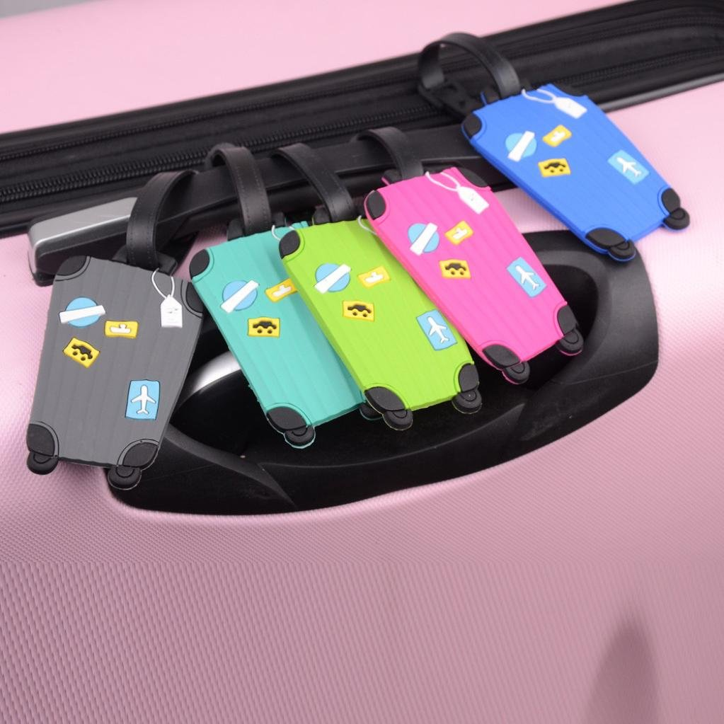 Outtop Durable Personalized Cute Suitcase Luggage Bag Tags 8 x 5cm (Green) by OutTop (Image #2)