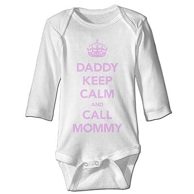 8f095ebea Midbeauty Daddy Keep Calm Newborn Cotton Jumpsuit Romper Bodysuit Onesies Infant  Boy Girl Clothes