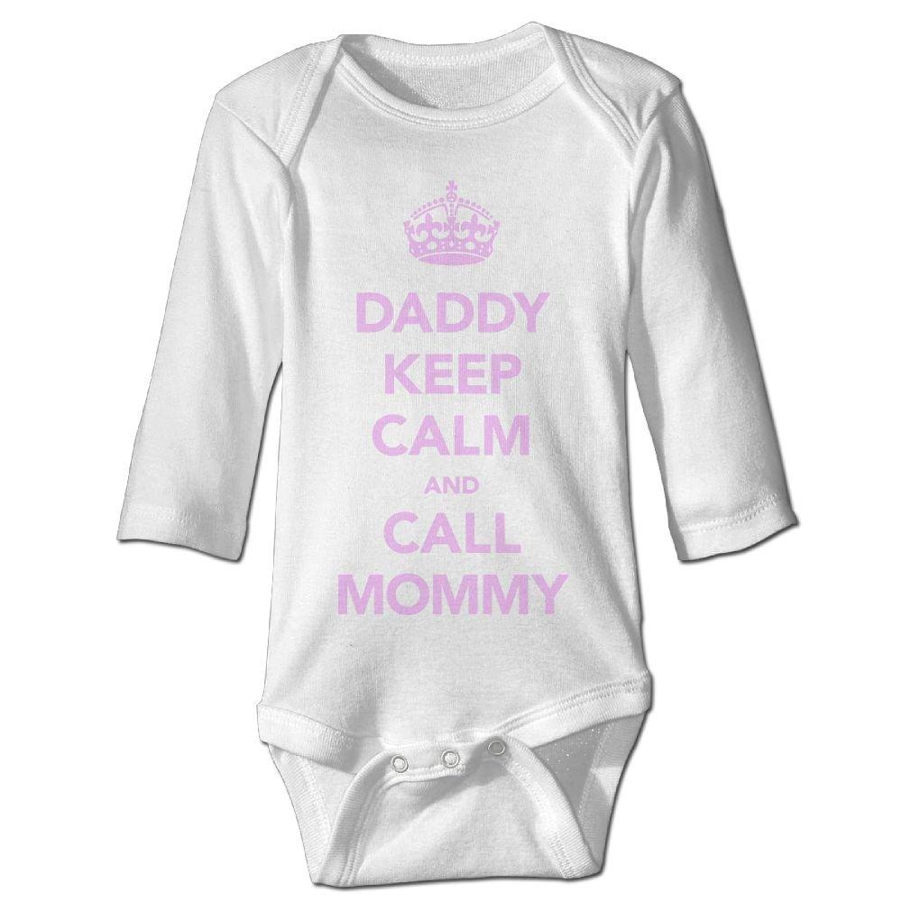 Midbeauty Daddy Keep Calm Newborn Cotton Jumpsuit Romper Bodysuit Onesies Infant Boy Girl Clothes