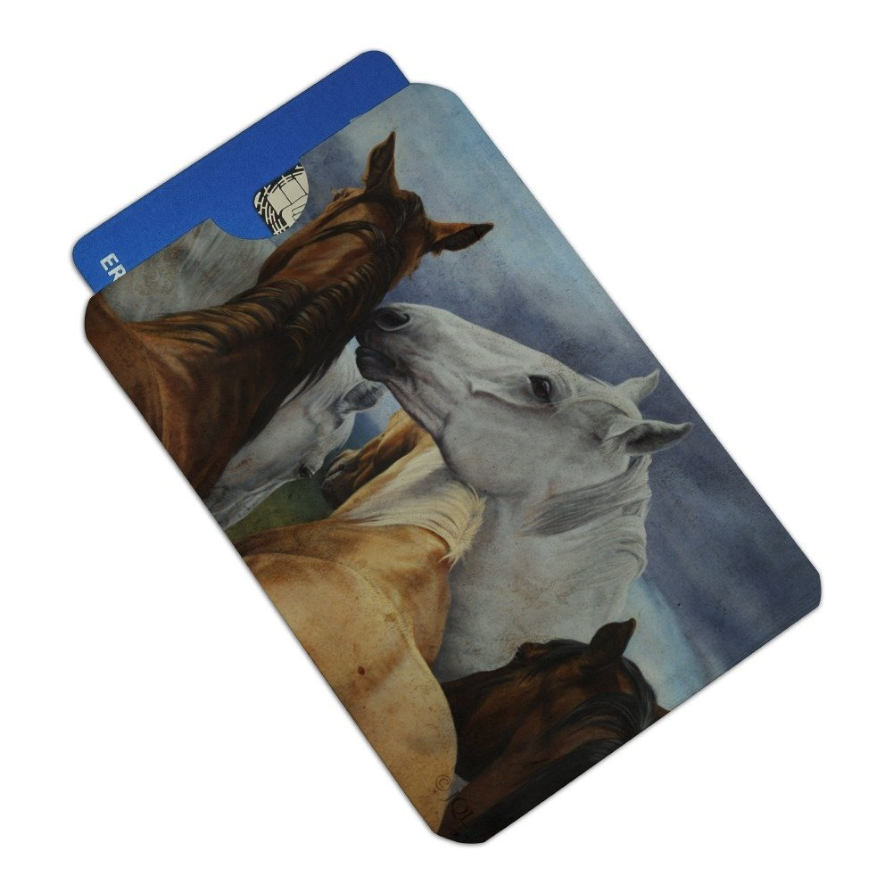 Horse Support Group Credit Card RFID Blocker Holder Protector Wallet Purse Sleeves Set of 4