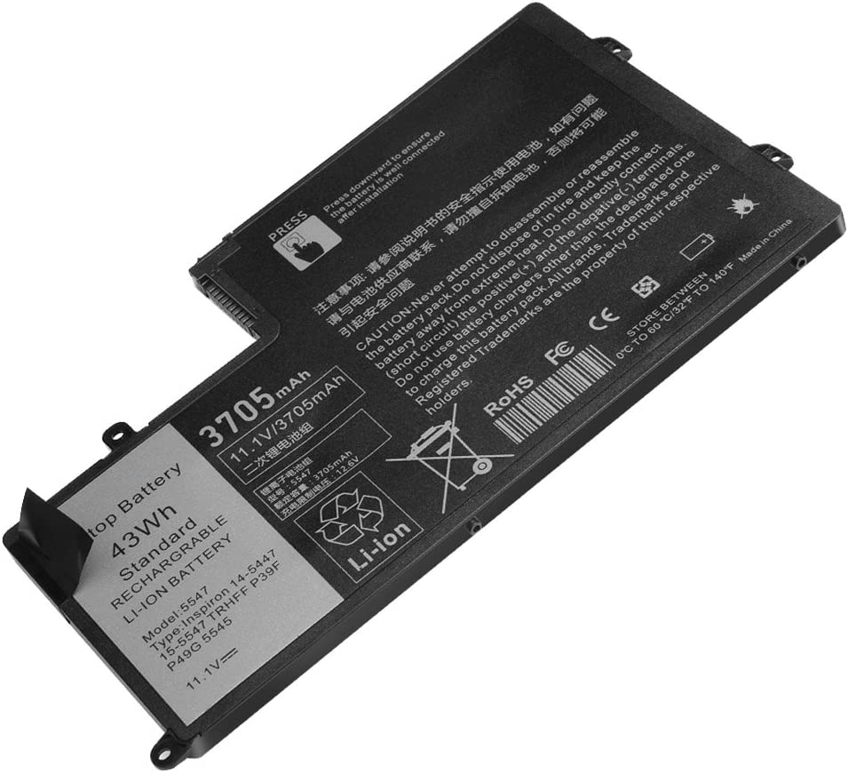 TRHFF Notebook Battery for DELL Inspiron 5447 5545 5547 5548 N5447 N5547 15-5000 Series i5547-3750sLV Latitude 14 3450 15 3550 DL011307-PRR13G01 1V2F6 01v2f6 0PD19 P39F