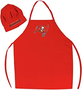 PSG Products Buccaneers Premium Apron & Chef Hat Barbecue BBQ Cooking Grilling Football