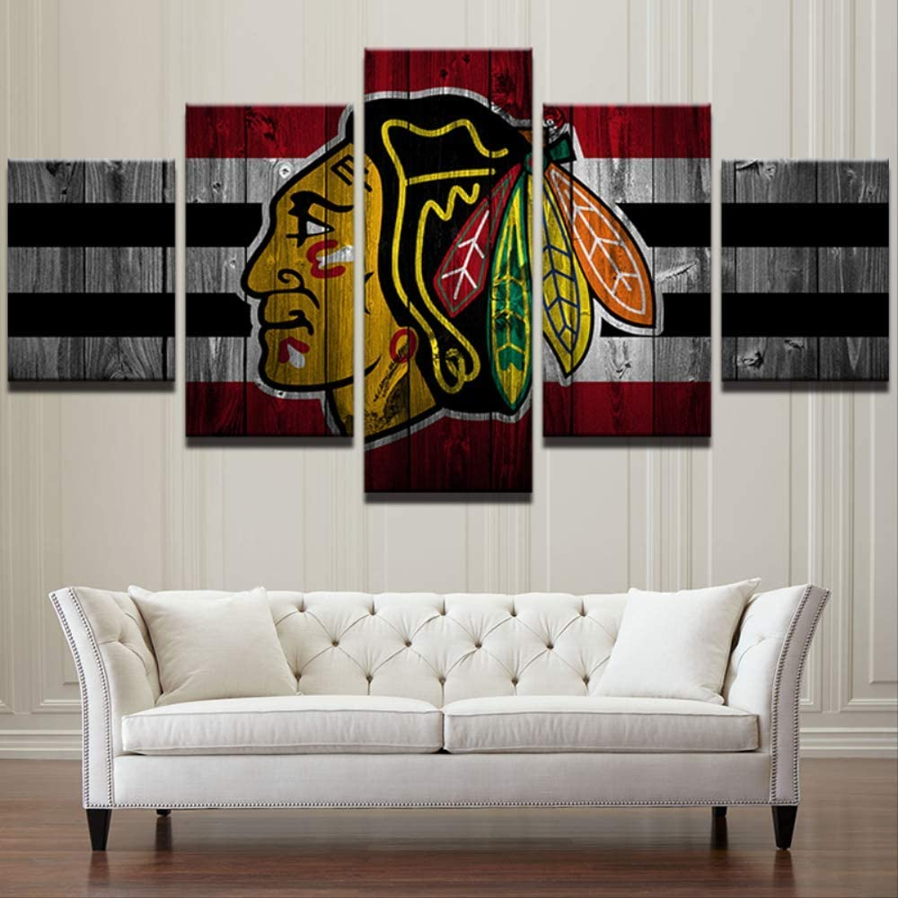 Wall Art House Spray Painting Prints Columbus 5 Pieces Hockey League Canvas Sport Brand New Wall Art Modular Pictures Poster Office Decor Home