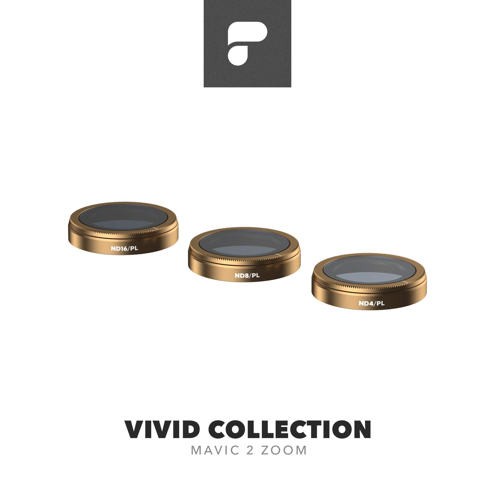 PolarPro Vivid Filter Collection for Mavic 2 Zoom - DJI Mavic 2 Filters (ND4/PL, ND8/PL, ND16/PL) by PolarPro