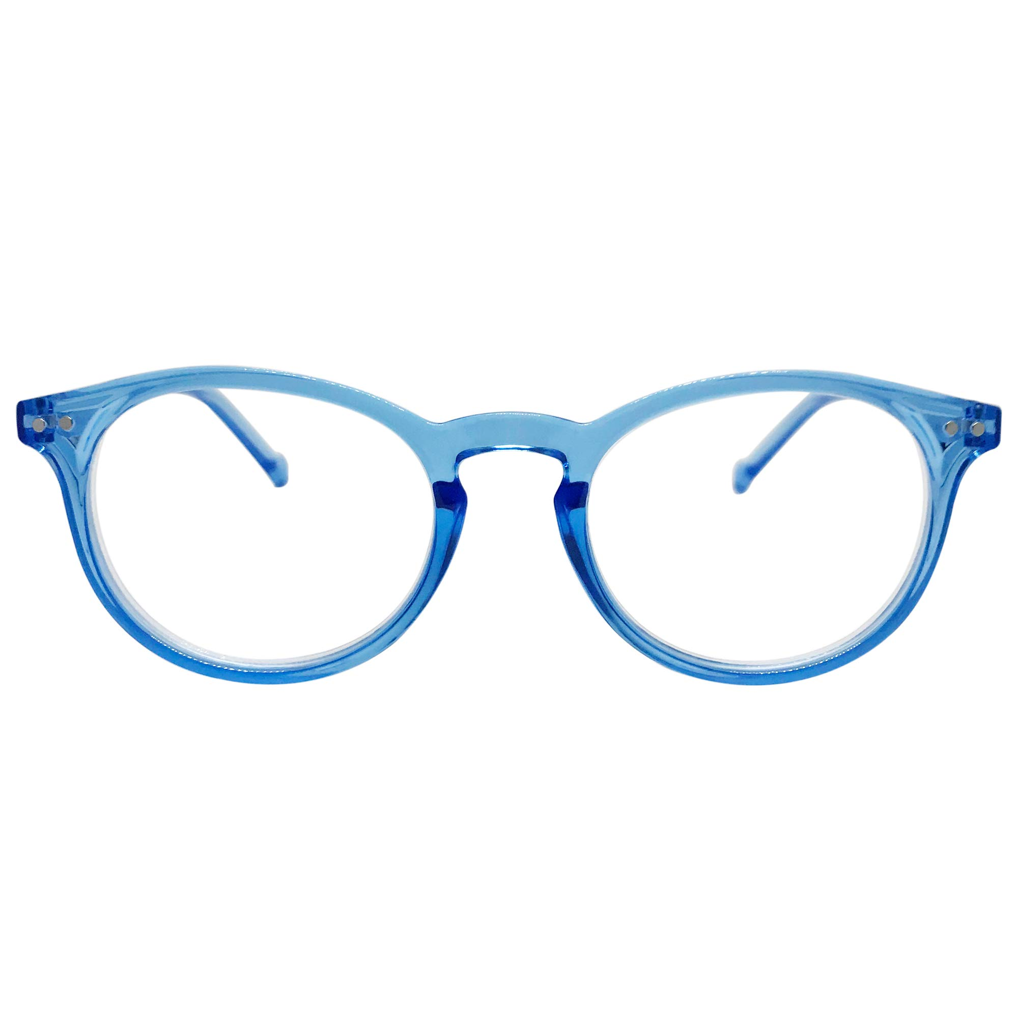 Seattle Premium Reading Glasses (Clear Light Blue, 1.50) by City Sights Eyewear