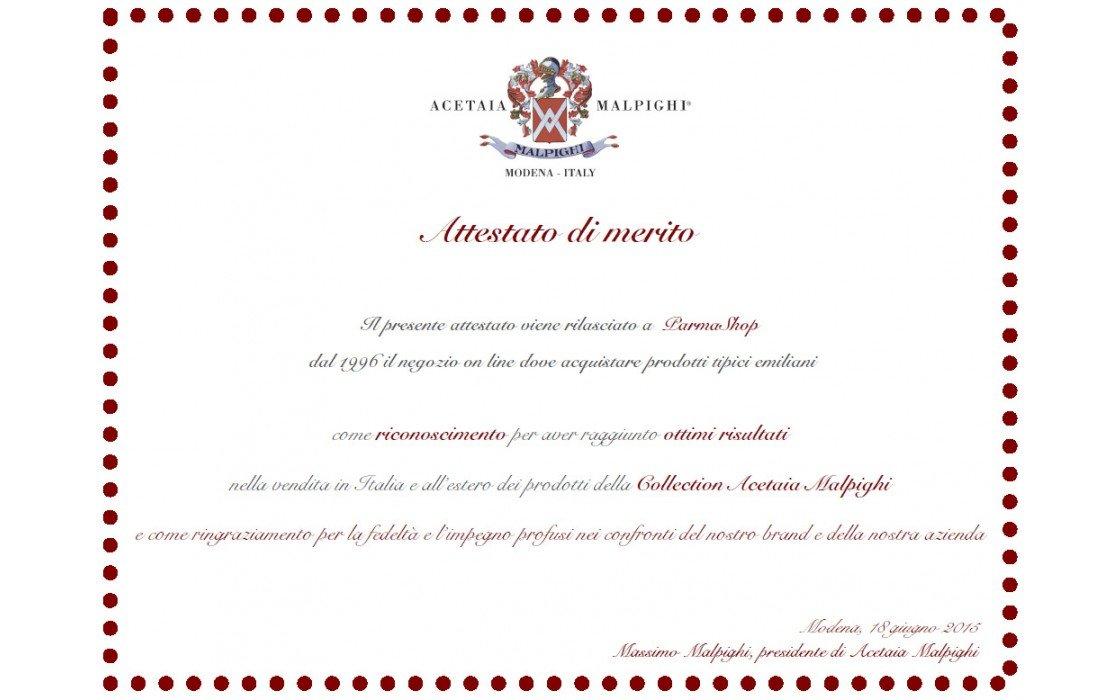 Traditional Balsamic Vinegar of Modena Pdo (Malpighi) 25 years old, 3.4 oz (100 ml) + tic doser
